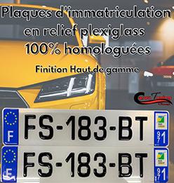 PLAQUES D'IMMATRICULATIONS