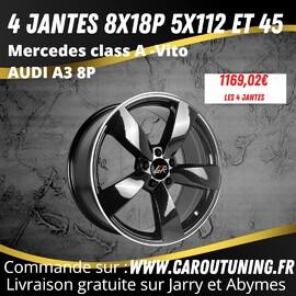 Faites nous confiances pour vos commandes de jantes.  4 Jantes DISPO DE SUITE !  Jantes 8x 18 pouces 5x112 pour Mercedes Vito- Mercedes class A Audi A3 8P VW GOLF 5 6 7  https://www.caroutuning.fr/jantes-/5077--4-jantes-lmrtiago801851124566polblk-4053881248524.html  Passez vos commande sur : www.caroujantes.fr   Livraison gratuite sur Jarry et Abymes  Paiement en 4 fois possible directement sur le site  𝗖𝗔𝗥𝗢𝗨 𝗧𝗨𝗡𝗜𝗡𝗚 𝗖𝗢𝗡𝗖𝗘𝗣𝗧 𝗔𝗨 𝗡𝗜𝗩𝗘𝗔𝗨 𝗗𝗨 𝗥𝗢𝗡𝗗 𝗣𝗢𝗜𝗡𝗧 𝗗𝗨 𝗦𝗧𝗔𝗗𝗘 𝗗𝗘 𝗥𝗜𝗩𝗜𝗘𝗥𝗘 𝗗𝗘𝗦 𝗣𝗘𝗥𝗘𝗦 𝗙𝗔𝗖𝗘 𝗔 𝗟𝗔 𝗦𝗧𝗔𝗧𝗜𝗢𝗡 𝗗𝗘 𝗟𝗔𝗩𝗔𝗚𝗘 𝗠𝗢𝗨𝗦𝗦 𝗔𝗨𝗧𝗢 𝗕𝗔𝗦𝗦𝗘-𝗧𝗘𝗥𝗥𝗘 📞𝟬𝟲𝟵𝟬𝟵𝟬𝟭𝟭𝟲𝟲 𝐢𝐧𝐟𝐨@𝐜𝐚𝐫𝐨𝐮𝐭𝐮𝐧𝐢𝐧𝐠.𝐟𝐫 𝘄𝘄𝘄.𝗰𝗮𝗿𝗼𝘂𝘁𝘂𝗻𝗶𝗻𝗴.𝐟𝐫